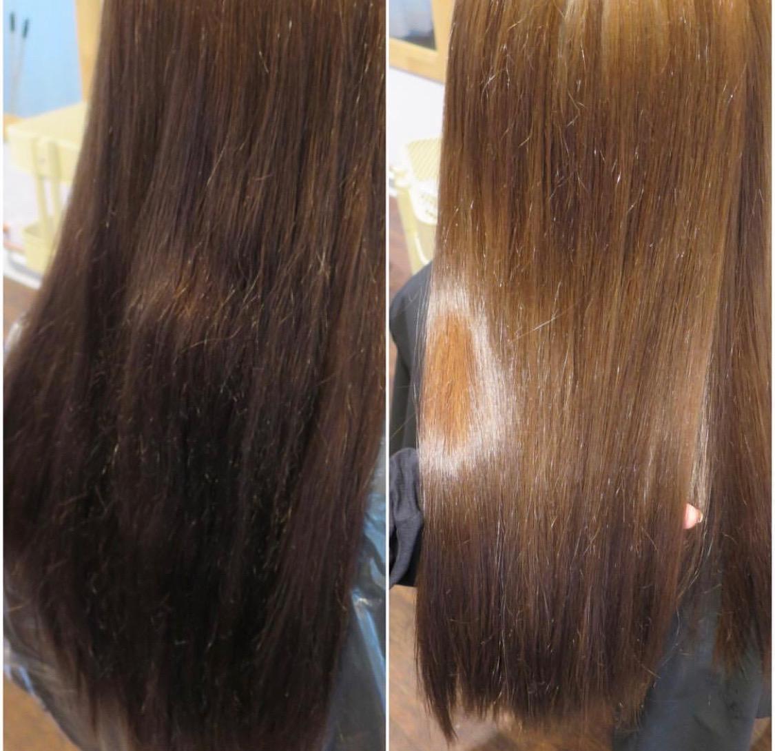 avfärga hår hemma